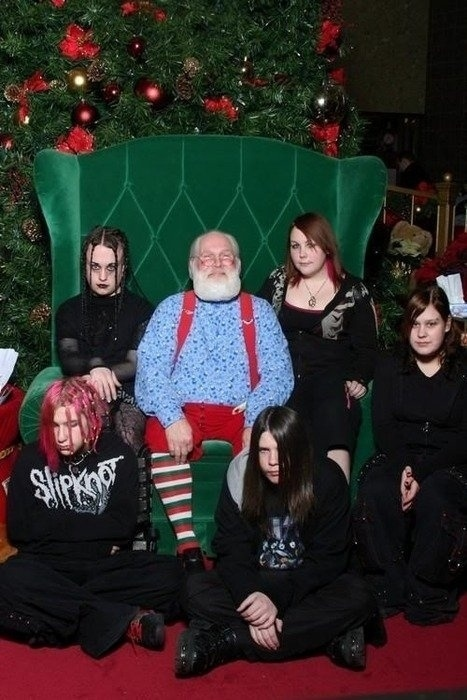 I think Santa is scared