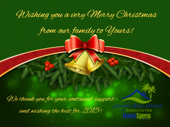 John Soliman and Associates of HomeXpress Realty Inc - Wishing You a Merry Christmas