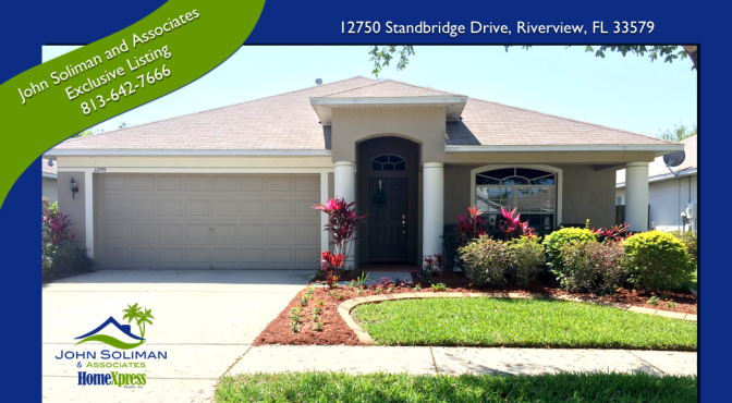 12750 Standbridge Drive Riverview FL 33579  I  John Soliman and Associates 813.642.7666