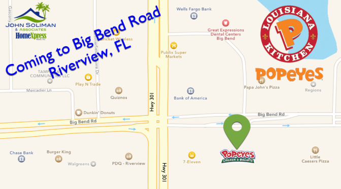 POPEYES CHICKEN COMING TO BIG BEND ROAD RIVERVIEW